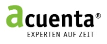 Homepage Acuenta Interimsmanagement AG